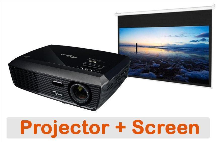 "Optoma DS311 SVGA HDMI Projector + 84"" 4:3 Screen Bundle"