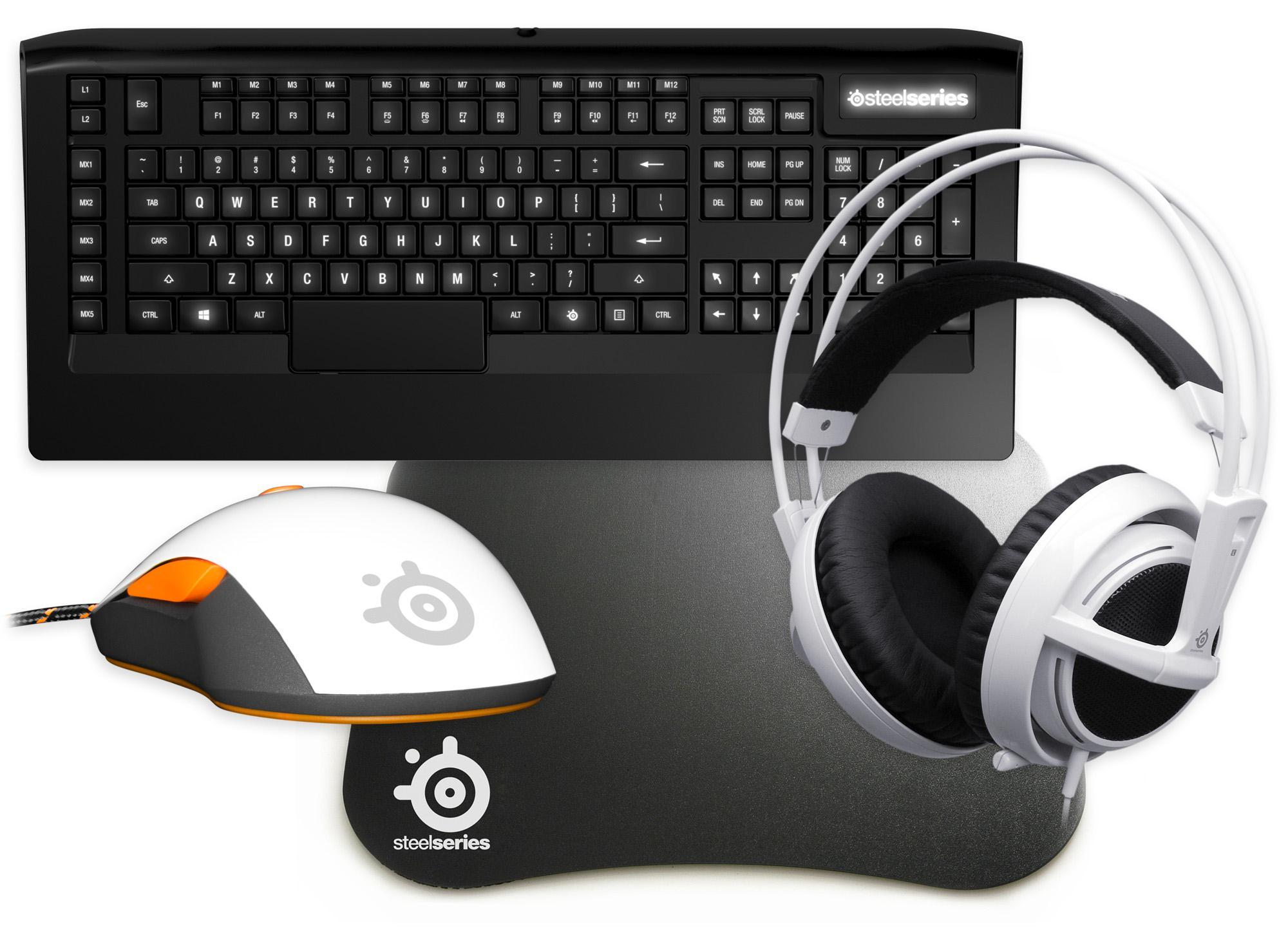 SteelSeries Gaming Mega Bundle 2 - Includes: Mouse Keyboard Headset & Surface