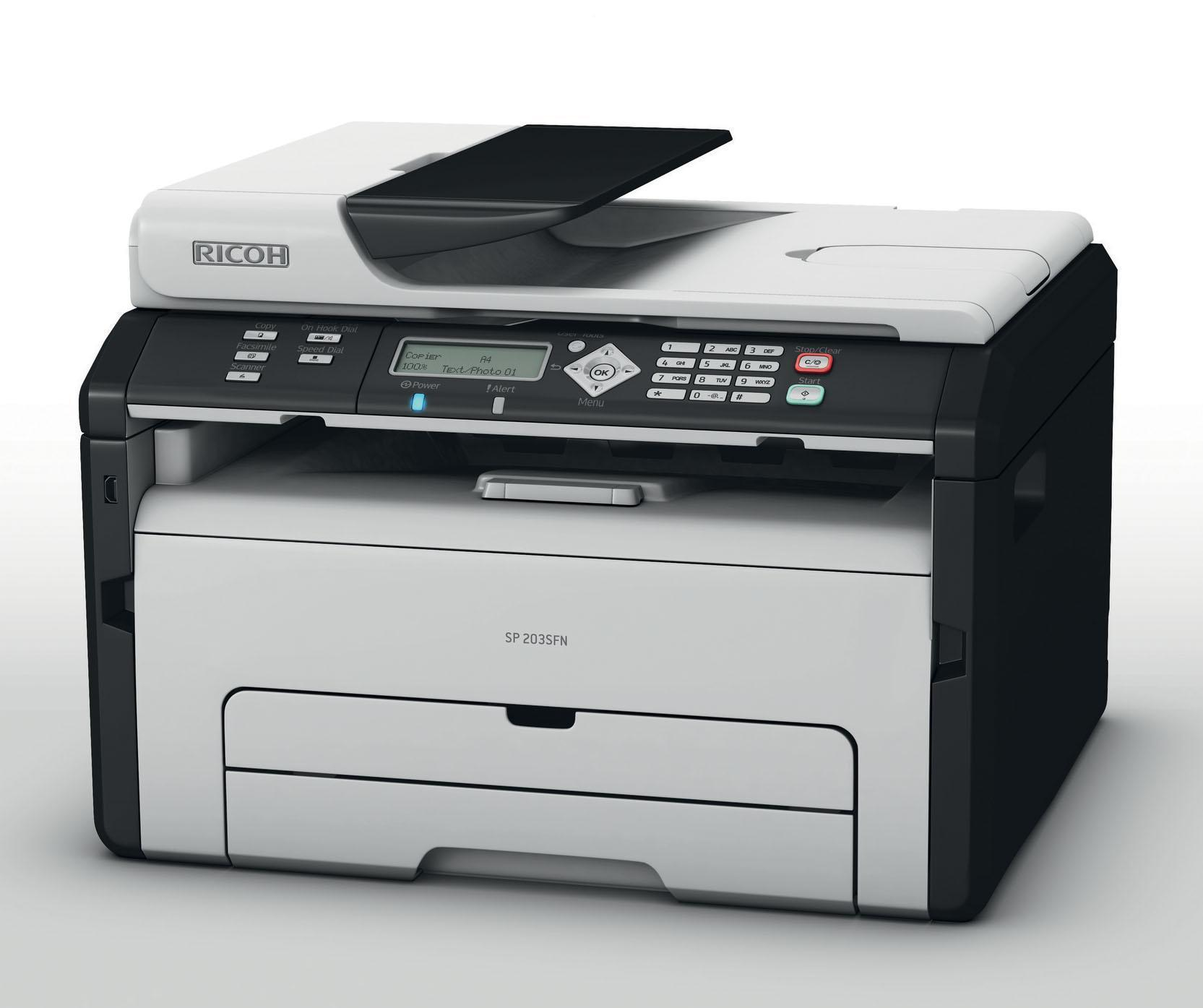 Ricoh SP204SFN All in One Mono Laser Printer with Ethernet