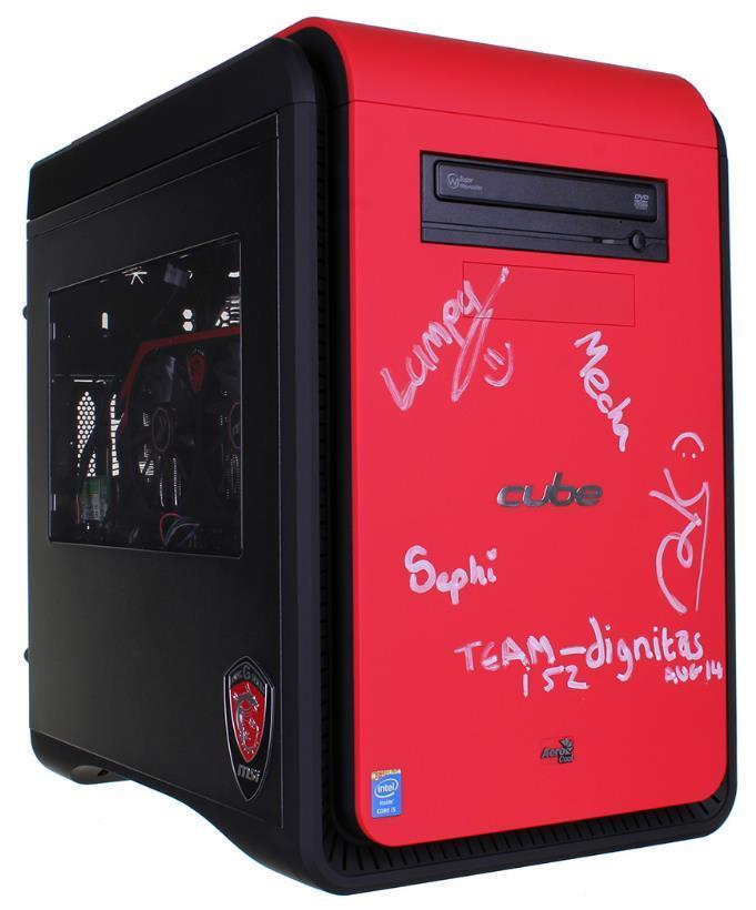 Team Dignitas Signed Gaming Cube Assassin Gaming PC from I52 Stand!