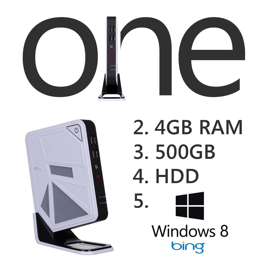 Cube One 1 Series Small Compact Desktop System