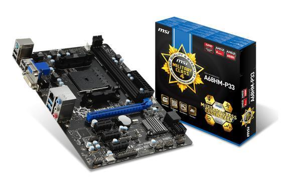 MSI A68HM-P33 Motherboards