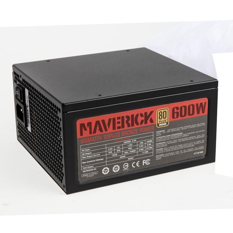 Xigmatek Maverick 600W '80 Plus Bronze' Semi Modular Power Supply