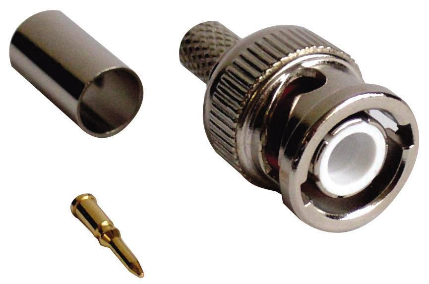 BNC Crimp Connector for RG59 Cables for CCTV Cameras Installations