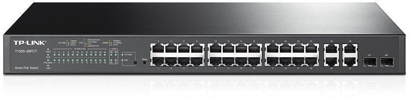 TP-Link T1500-28PCT 24-Port 10/100Mbps + 4-Port Gigabit Smart PoE+ Switch