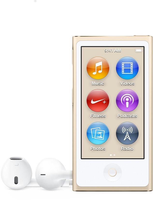 Apple iPod nano 7G 16 GB Gold Flash Portable Media Player