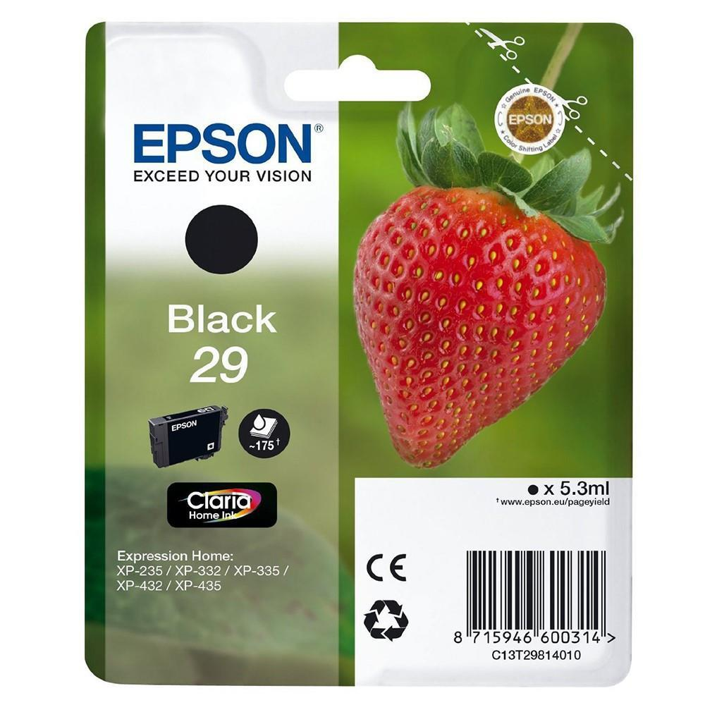 Epson Claria 29 Home Strawberry Ink Black Cartridge