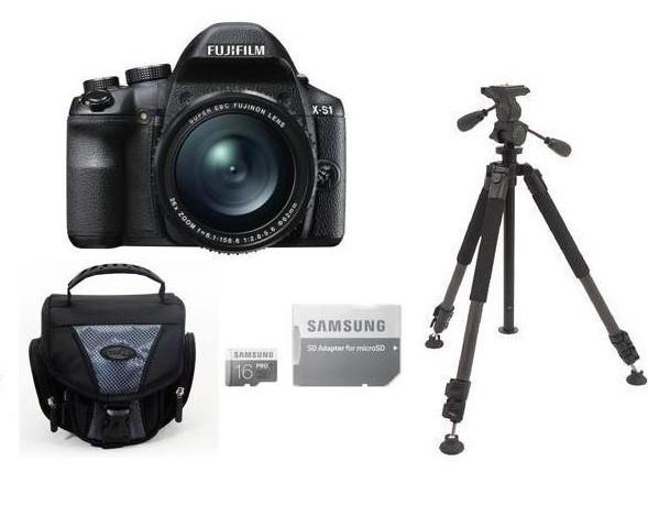 Fujifilm X-S1 12MP Digital Bridge Camera Bundle