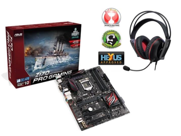 Asus Z170 PRO GAMING Motherboard + Asus Cerberus Headset Worth £39.99