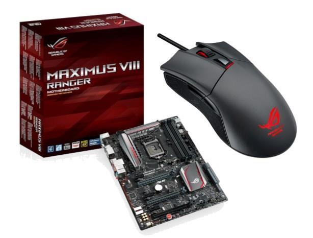 Asus MAXIMUS VIII RANGER Motherboard + Asus Gladius Gaming Mouse Bundle