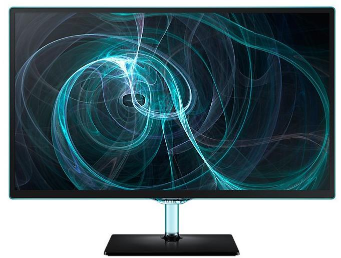 """Samsung 27"""" TV monitor with the blue Touch of Colour (Black)"""