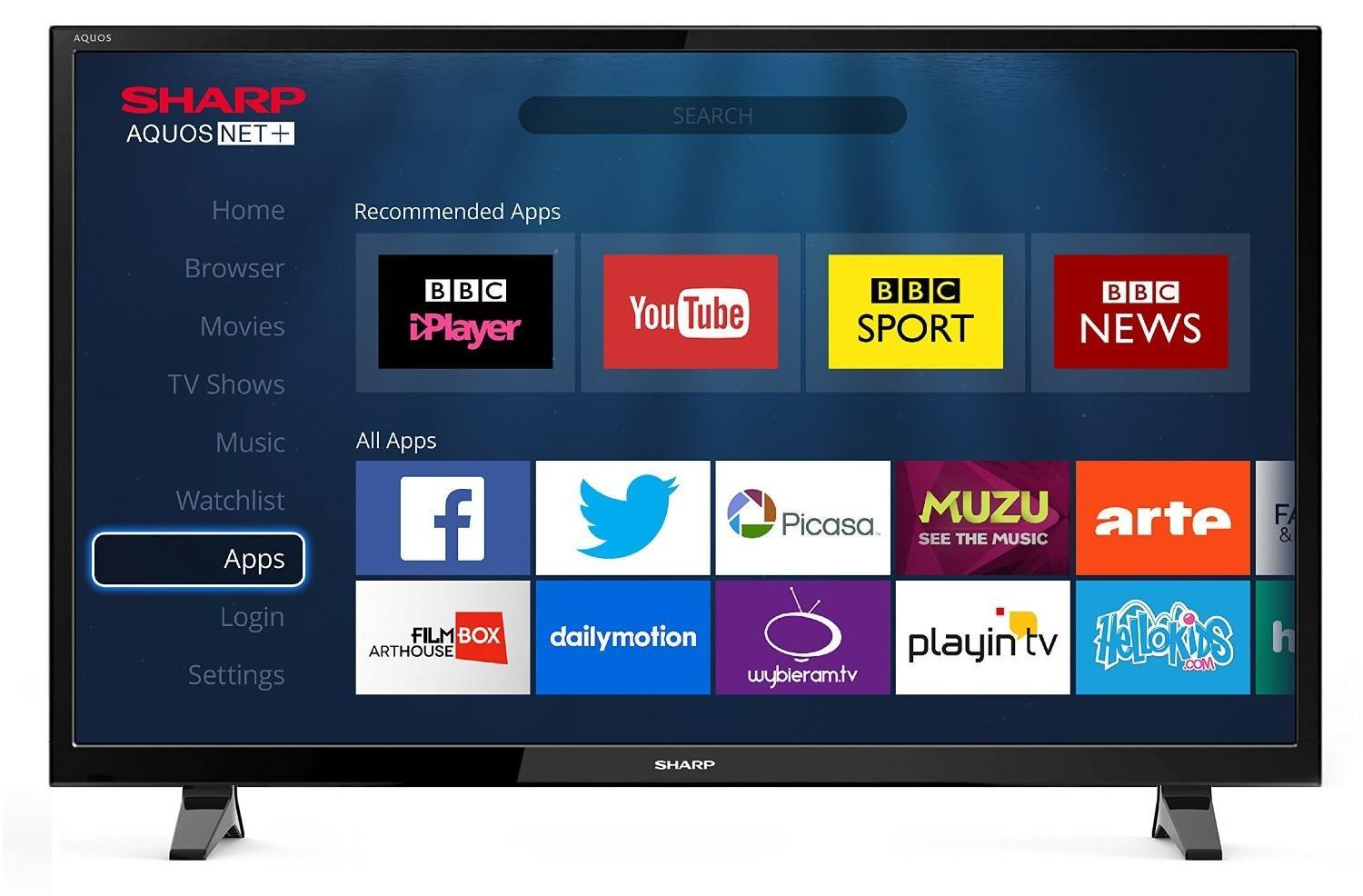 """Sharp LC-48CFF6001K 48"""" Full HD 1080p LED Smart TV with Freeview HD"""