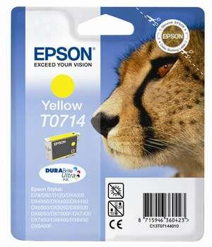 Epson DURABrite T0714 Cheetah Yellow Ink Cartridge