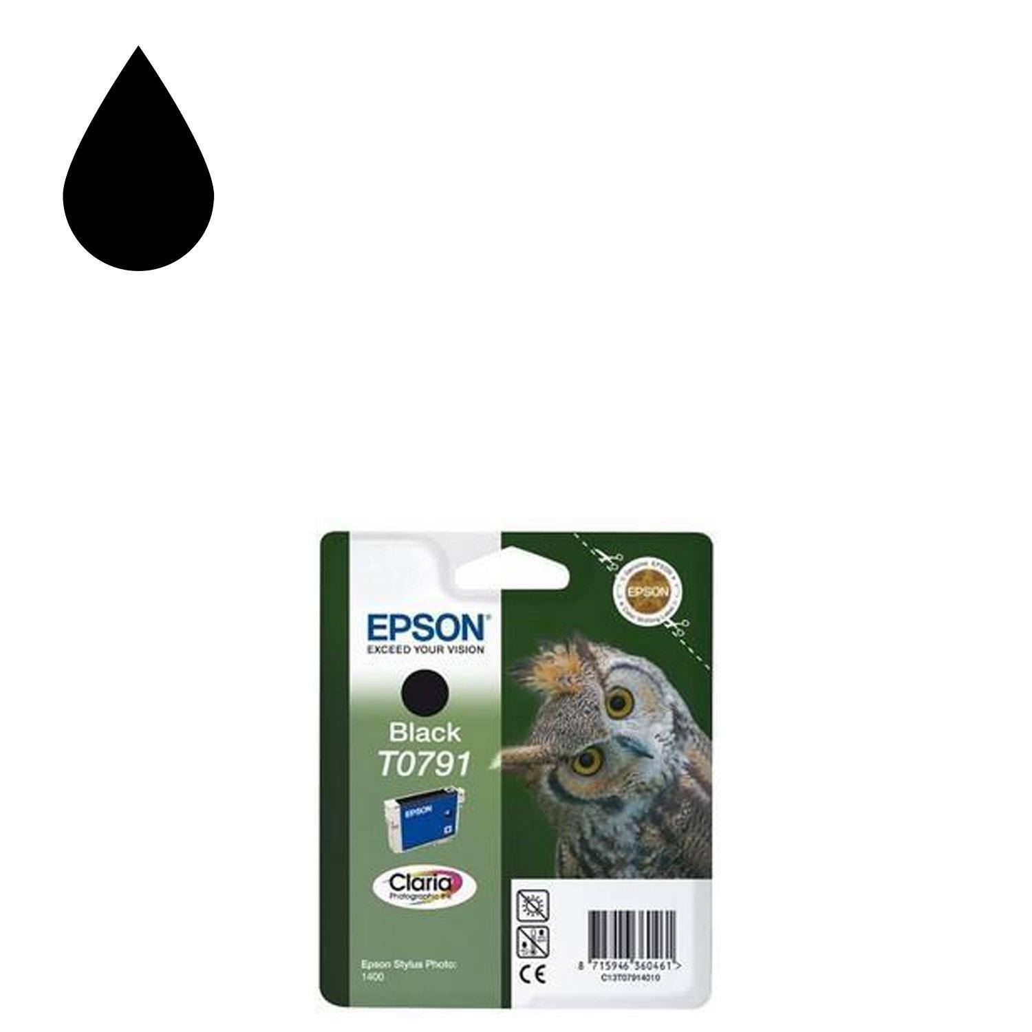Epson Claria T0791 Black Owl Ink Cartridge