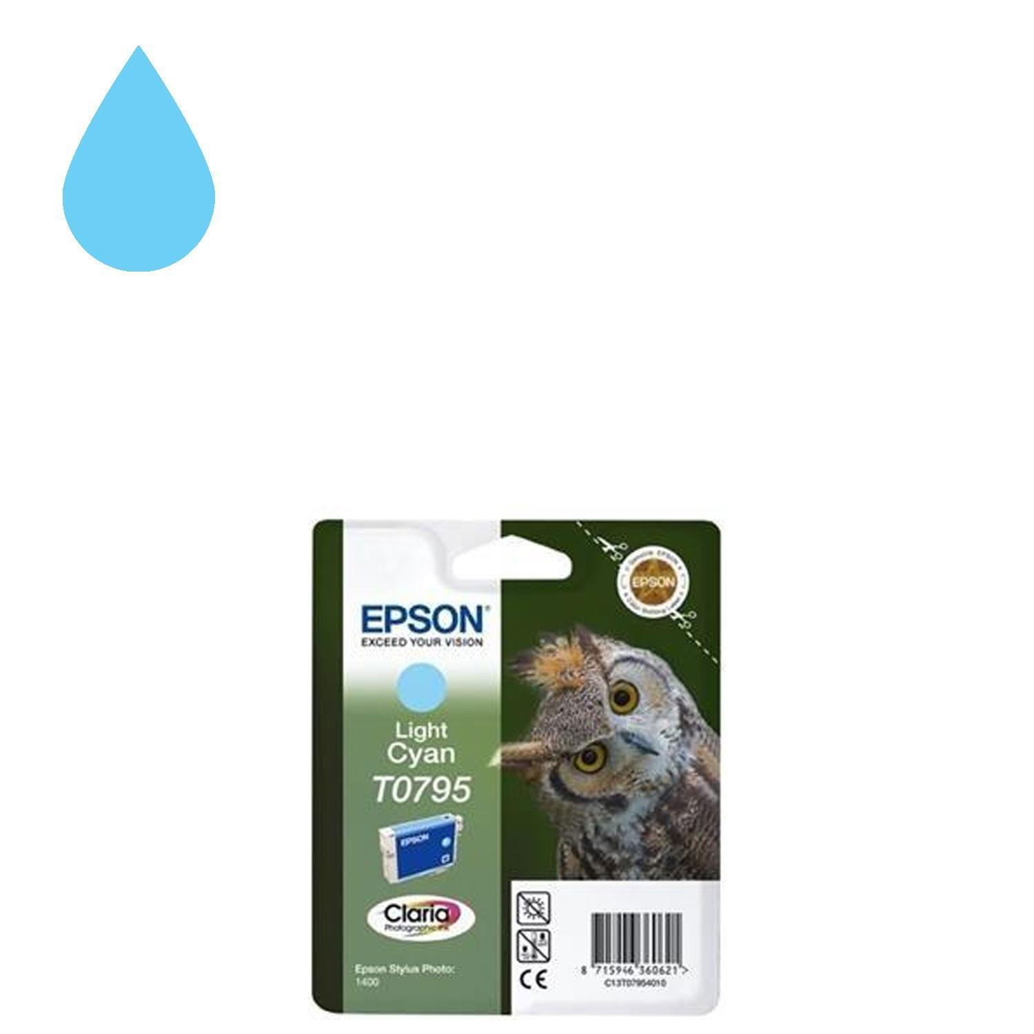 Epson Claria T0795 Ink Owl Light Cyan Cartridge