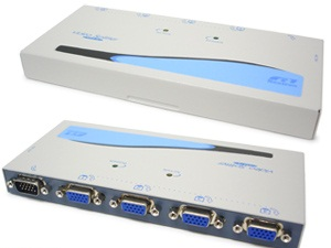 4 Way HD15 Monitor Video Splitter