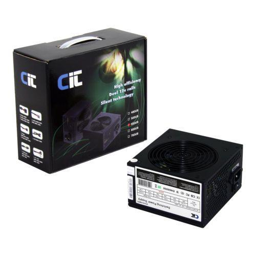 CIT 550w Black 12cm Power Supply Unit PSU