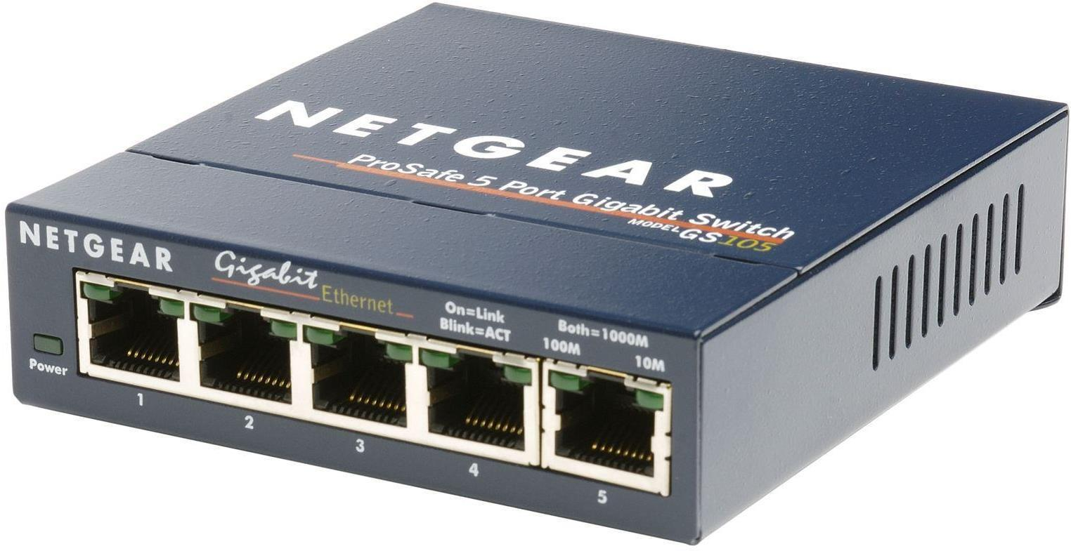 Netgear ProSafe GS105 Ethernet Network Gigabit Switch