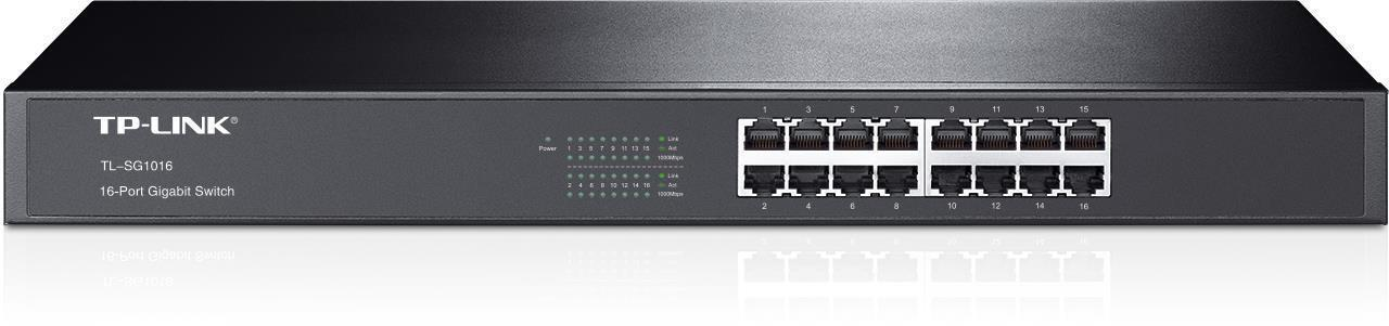 TP Link 16-port Unmanaged Gigabit Rackmount Switch 16x10/100/1000M RJ45 ports