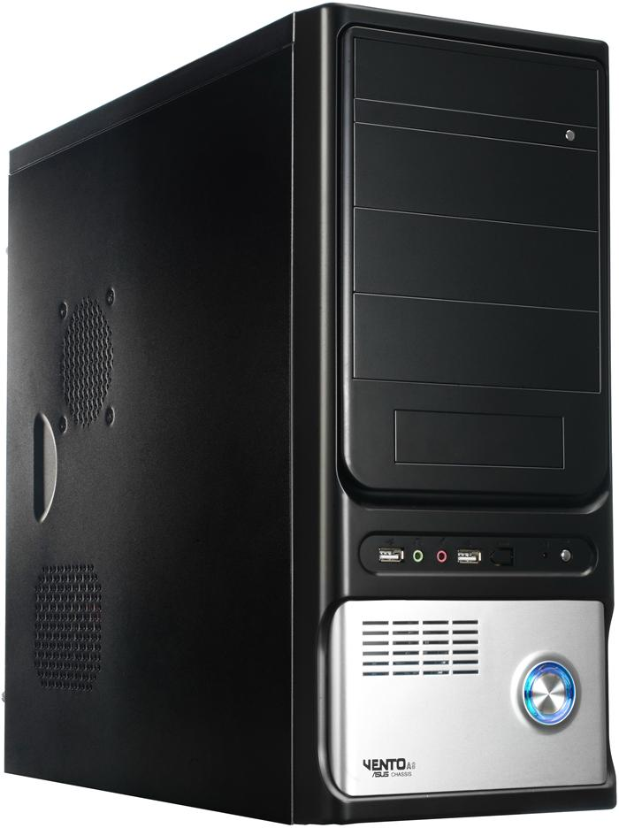 Asus TA-8H1 Black/Silver Midi Tower Case - No Power Supply