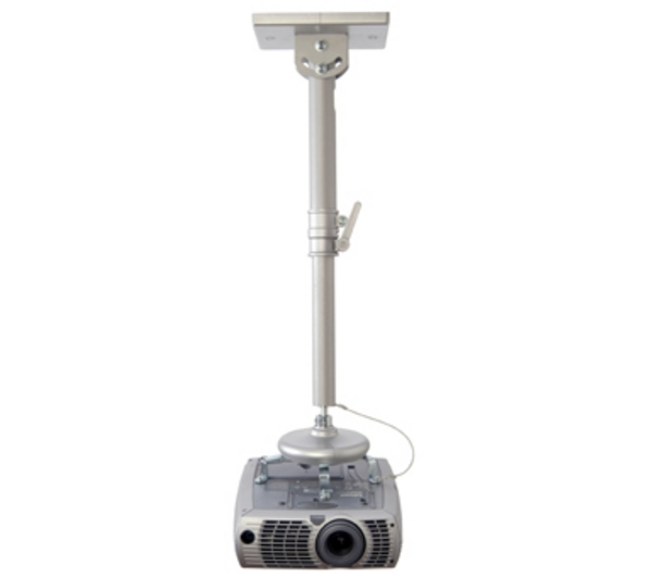 B-Tech SilverUniversal Projector Ceiling Mount with Long Adjustable Drop