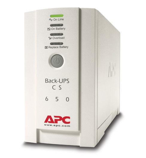 APC Back-UPS CS 650VA 400W 230V and surge protector