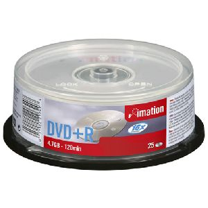 Imation 21749 DVD Recordable Media - DVD+R - 16x - 4.70 GB - 25 Pack Spindle