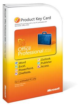 Microsoft Office 2010 Professional PKC License