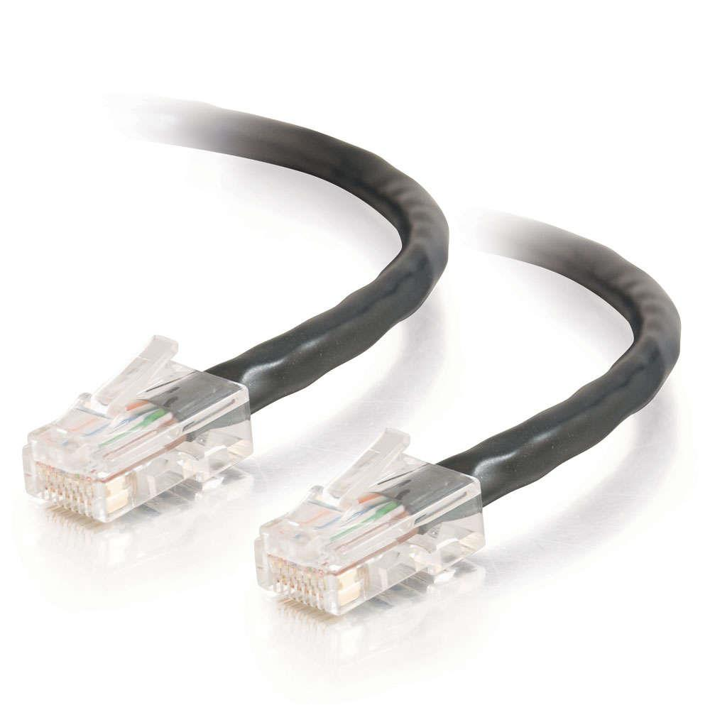 C2G 83318 Category 5e Network Cable - 3 m (1 x RJ-45 Male Network - 1 x RJ-45 Male Network - Gold-plated Connectors - Black)