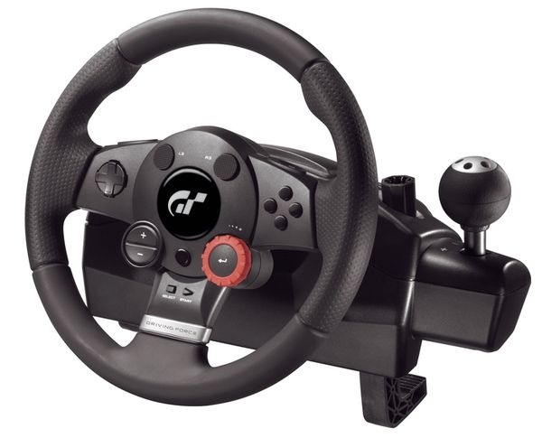 Logitech Driving Force GT Gaming Steering Wheel Pedals & Gear Stick Set