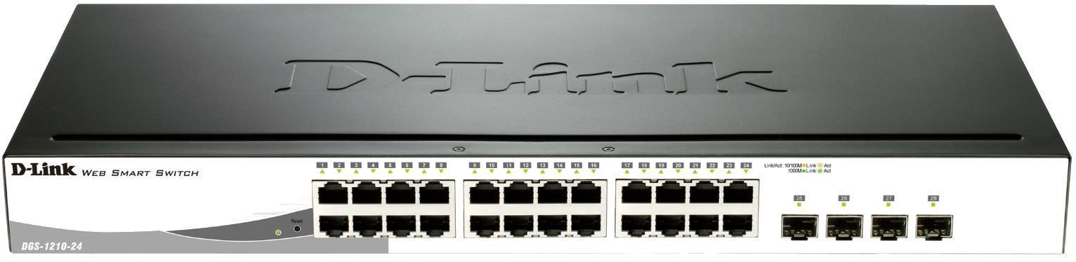 D-Link 24-Port Gigabit Smart Switch with Fibre Uplink
