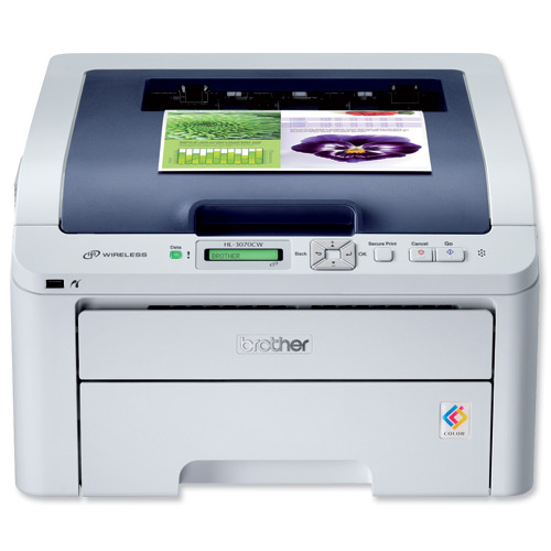 Brother HL-3070CW LED Wireless Wlan USB Colour Printer