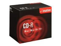 Imation i18644 CD Recordable Media - CD-R - 52x - 700 MB - 10 Pack Jewel Case (120mm - 1.33 Hour Maximum Recording Time)