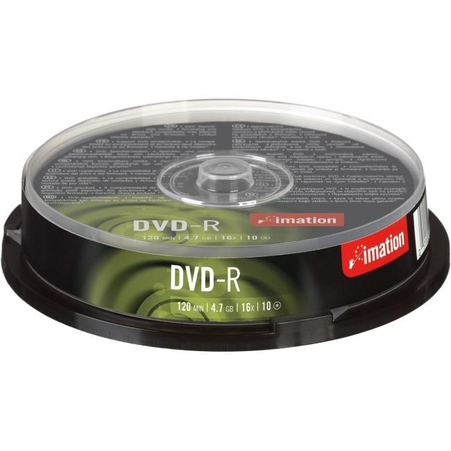 Imation i21978 DVD Recordable Media - DVD-R - 16x - 4.70 GB - 10 Pack Spindle