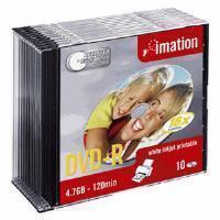Imation i22372 DVD Recordable Media - DVD-R - 16x - 4.70 GB - 10 Pack Slim Jewel Case