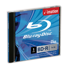 Imation i26165 Blu-ray Rewritable Media - BD-RE - 2x - 25 GB - 1 Pack Jewel Case