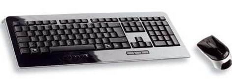 Cherry Pure Wireless MultiMedia Desktop Keyboard and Optical Mouse JD-0100GB