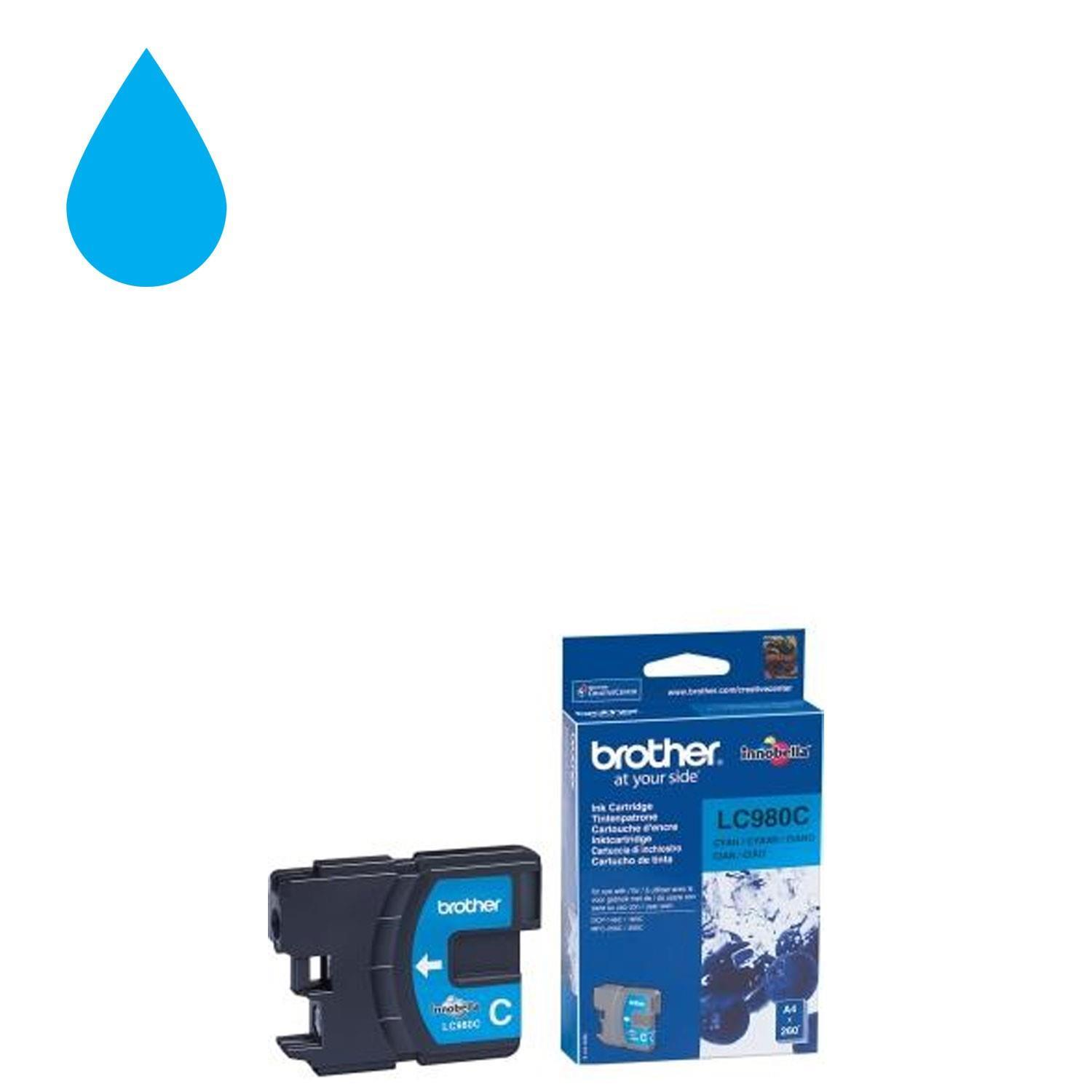 Brother LC-980C Ink Cartridge - Cyan