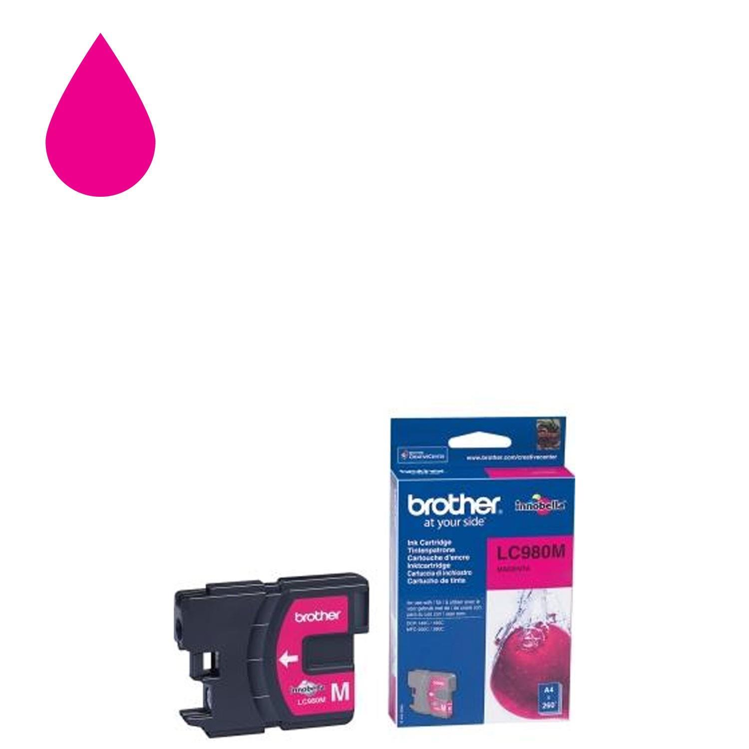 Brother LC-980M Ink Cartridge - Magenta