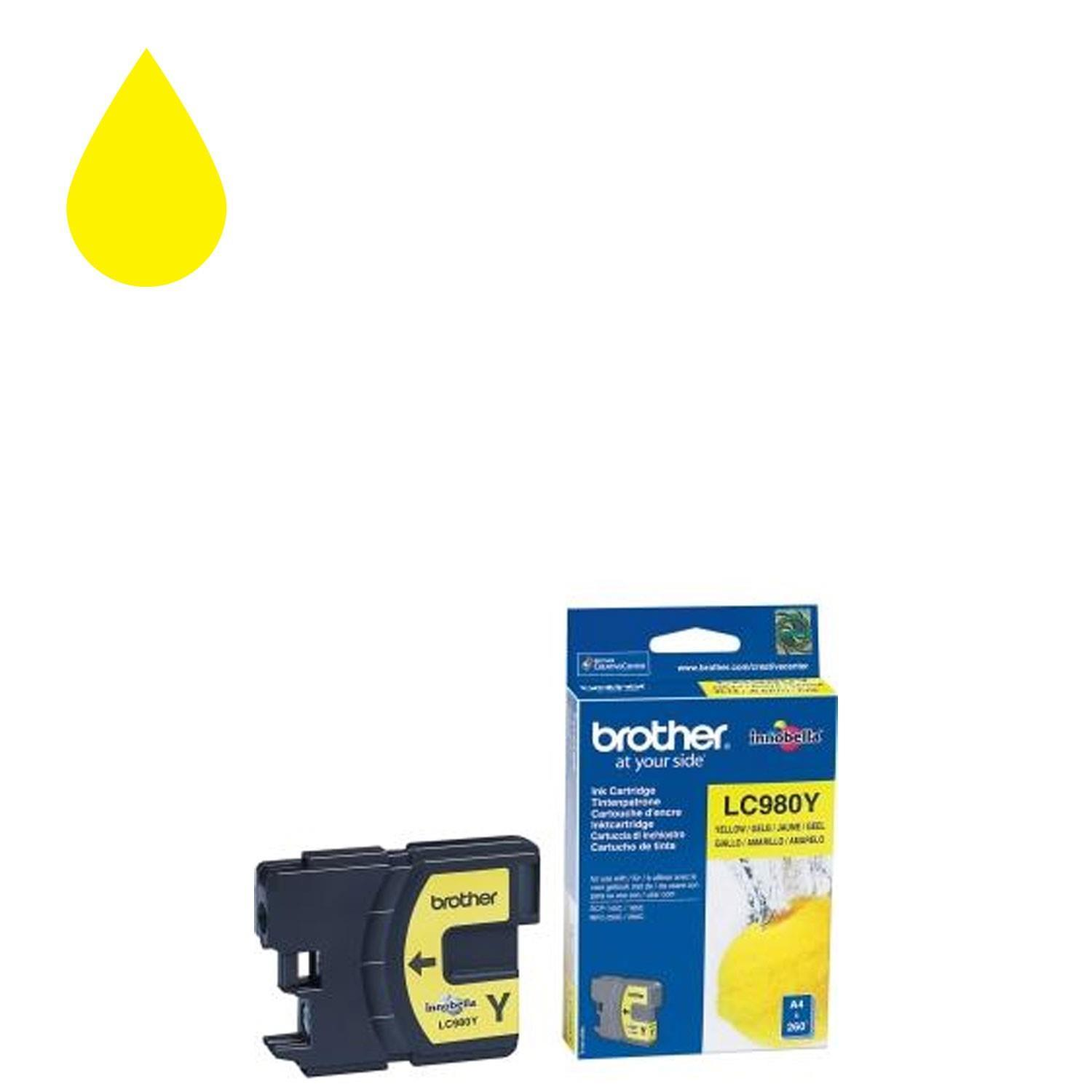 Brother LC-980Y Ink Cartridge - Yellow