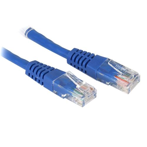 StarTech.com 3 ft Cat5e Blue Molded Crossover RJ45 UTP Cat5e Patch Cable - 3ft Patch Cord