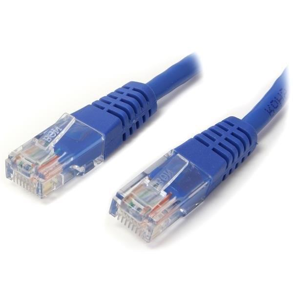 StarTech.com 3 ft Blue Molded Cat5e UTP Patch Cable