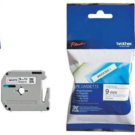 Brother MK-221SBZ Thermal Label - 9 mm Width x 4 m Length