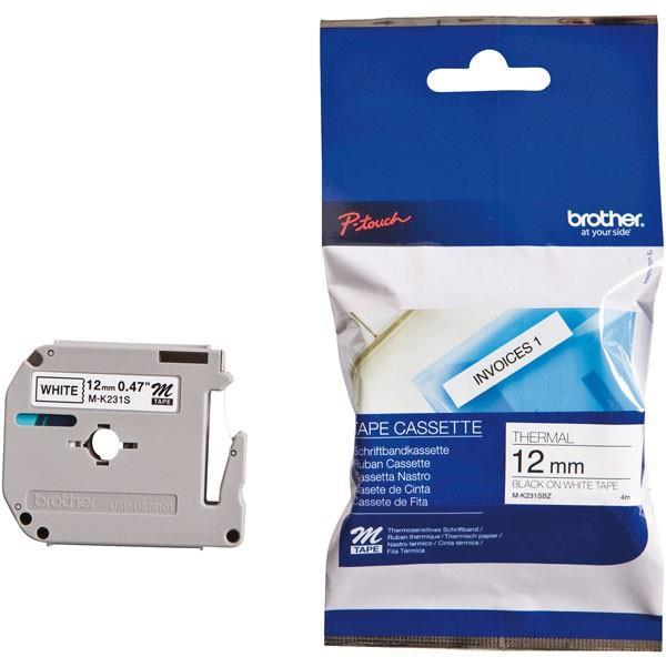 Brother MK-231SBZ Thermal Label - 12 mm Width x 4 m Length