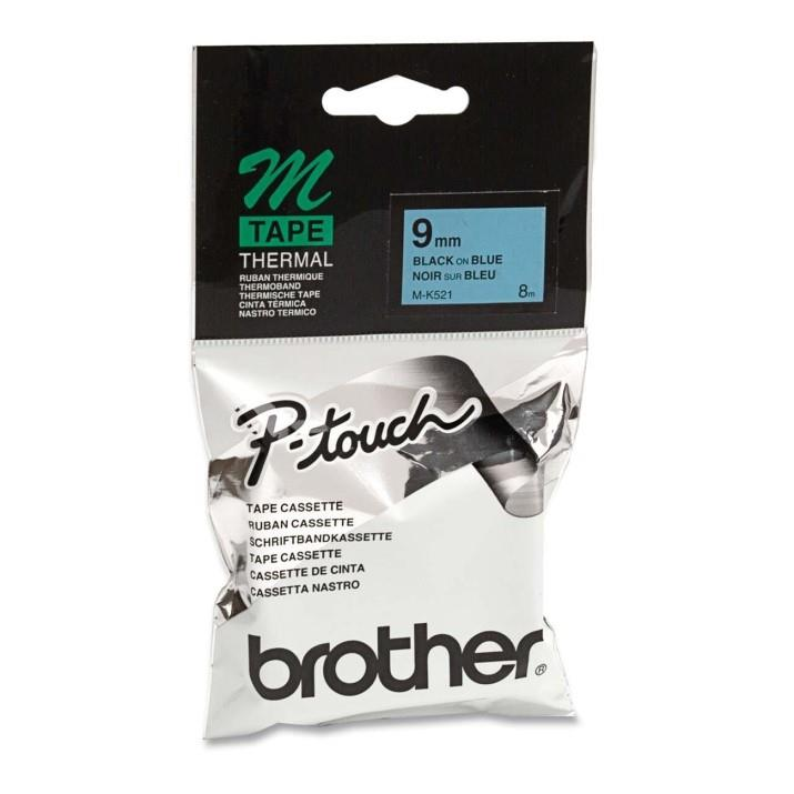 Brother MK 521BZ Thermal Label - 9 mm Width x 8 m Length (Cyan