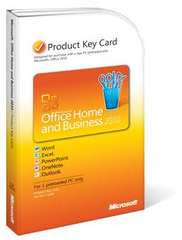 Microsoft Office 2010 Home and Business PKC Licence