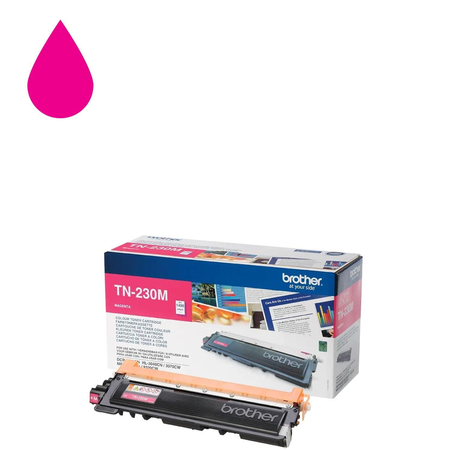 Brother TN230M Toner Cartridge - Magenta (Laser - 1400 Page)
