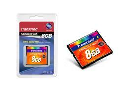 Transcend TS8GCF133 8 GB CompactFlash (CF) Card (1 Card/Pack - 133x)