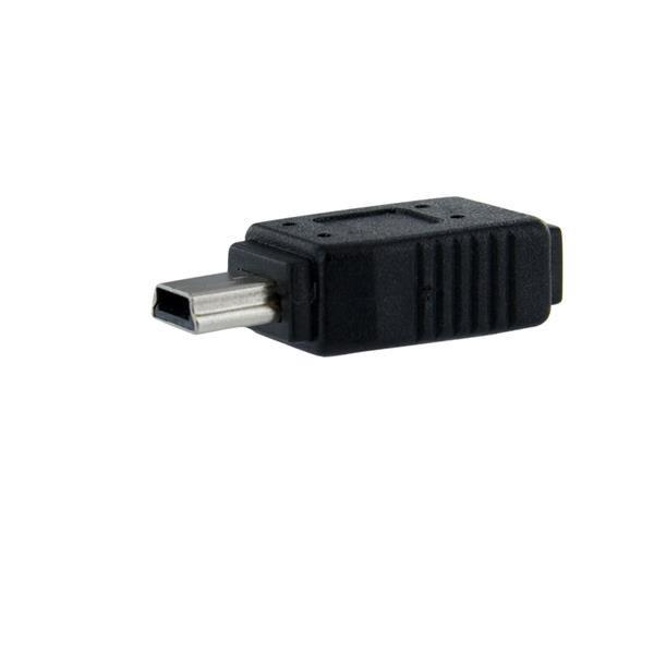 StarTech.com Micro USB to Mini USB Adapter F/M (PVC)