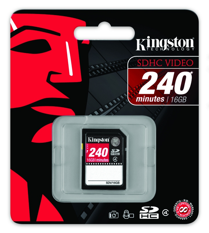 Kingston 16GB Class 4 SDHC Video Memory Card